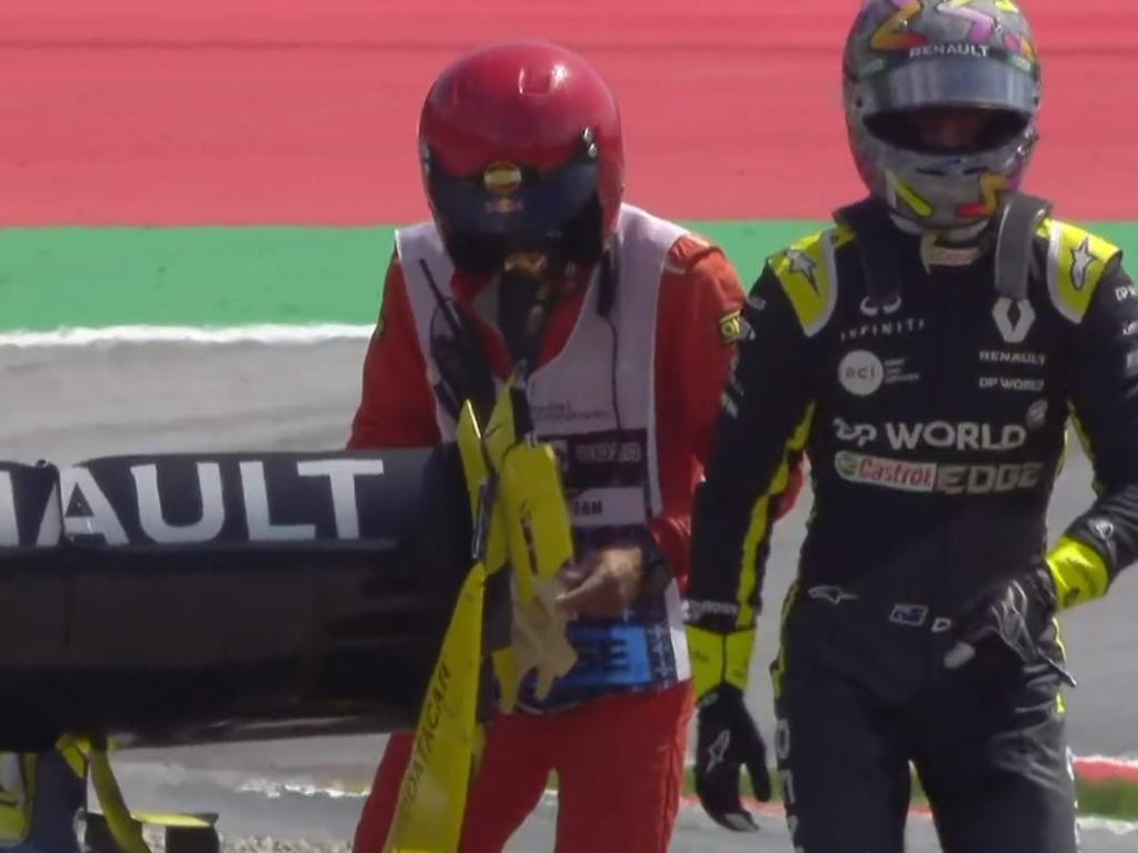 Daniel Ricciardo was a bit ginger after the crash.