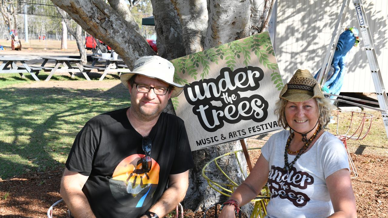 Gaston Boulanger and Christine Holden preparing for last year's Under the Trees festival.