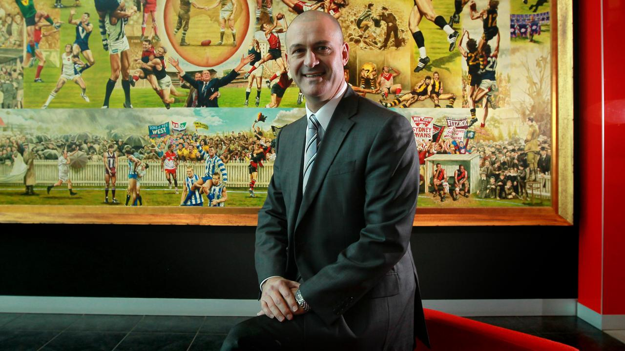 AFL general manager of operations Darren Birch at AFL headquarters in Melbourne.