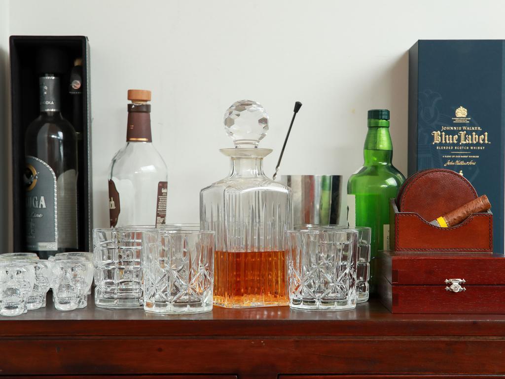 Spirit cabinet.