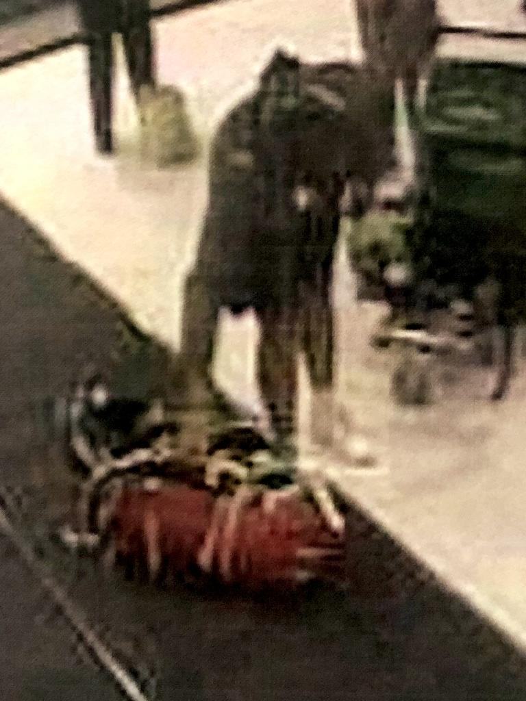 Paul Silao picking the meth bags up from the domestic luggage carousel at Sydney Airport. Picture: Supplied