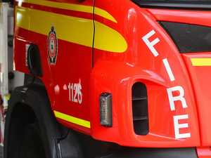 Three taken to hospital after fire breaks out in garage