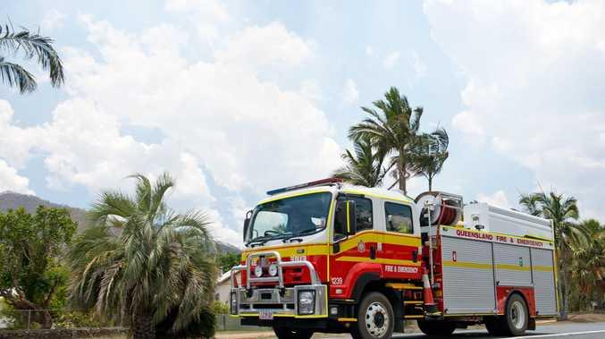 Fire burning near aged care facility