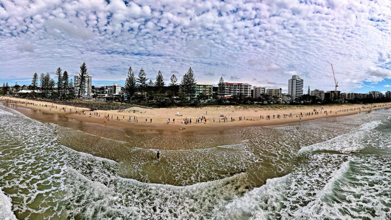 Hundreds of residents gathered at Alexandra Headland Beach on Sunday. Photo: John Anderson