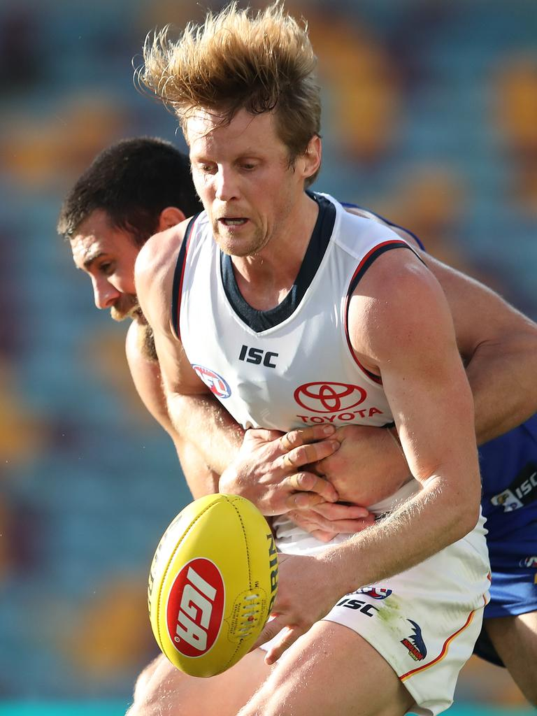 Rory Sloane will be hoping for good news on his injured hand. Picture: Jono Searle/AFL Photos/via Getty Images