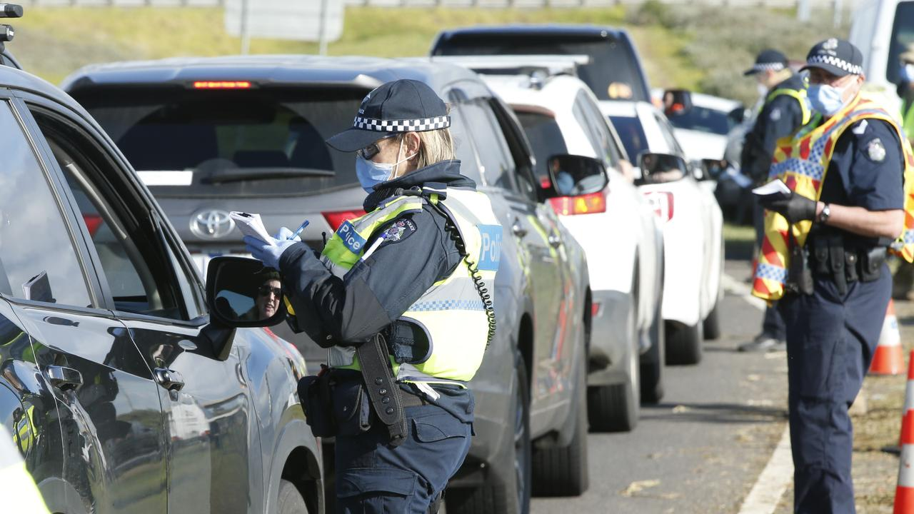 Police have handed dozens of fines in Victoria in the past 24 hours. Picture: Alan Barber