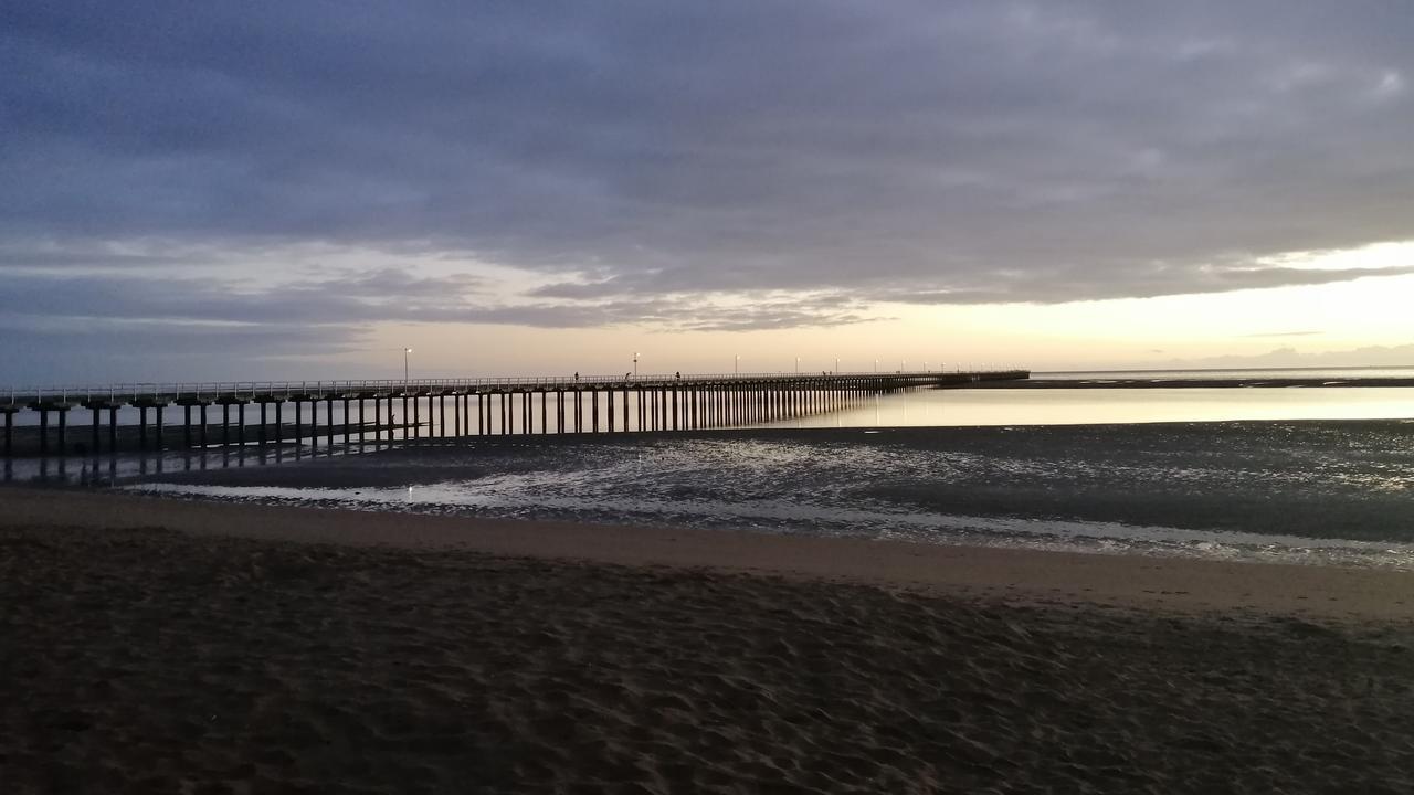 Urangan Pier at sunrise on a cool morning, Saturday July 11.