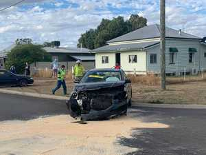 Head-on collision in Roma