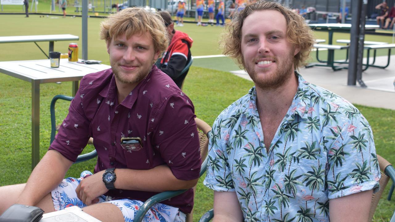 SUNDAY SESH: Adam and Liam Staples from Blacks Beach. Picture: Melanie Whiting