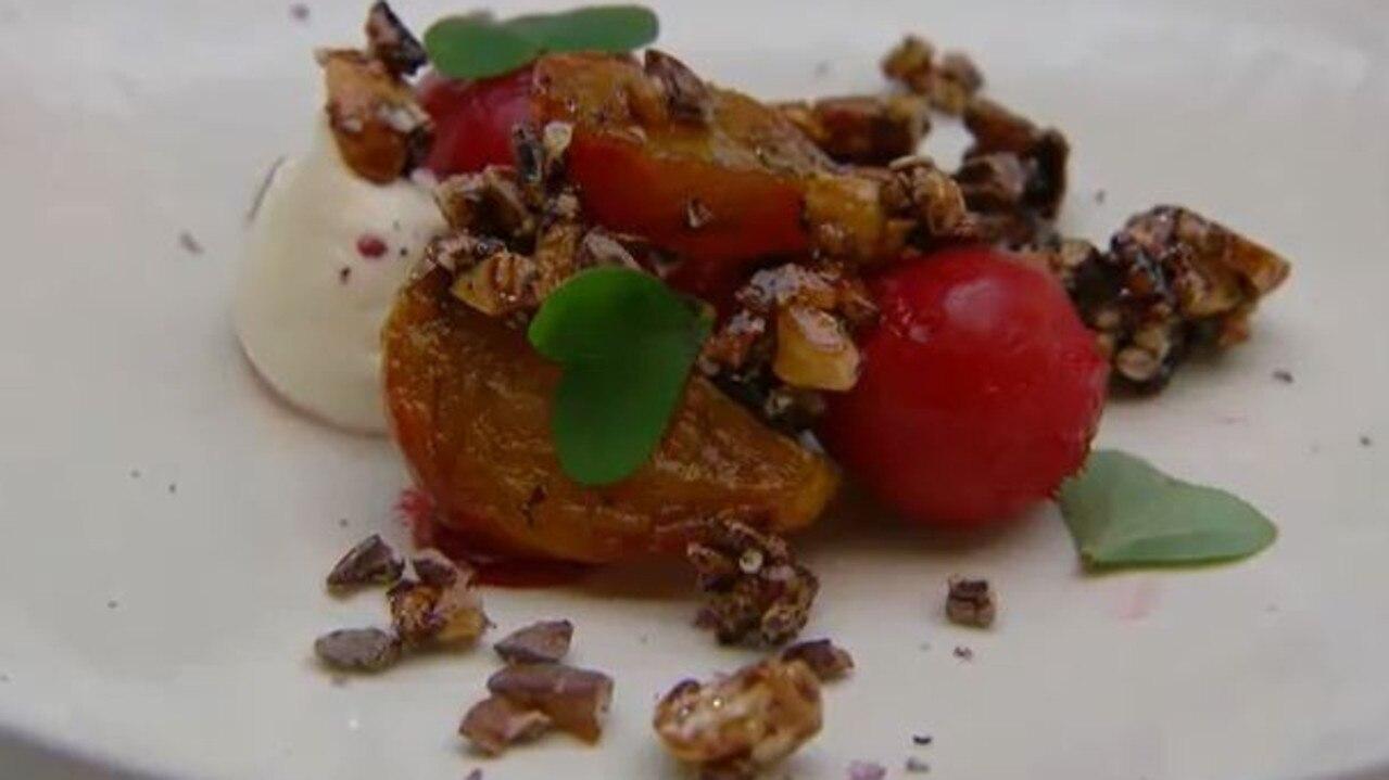 Jock Zonfrillo wasn't a big fan of Reece's beetroot dish. Picture: Channel 10.