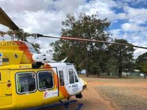 Woman air-lifted after horse fall