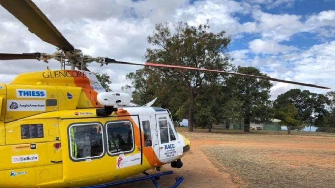 The RACQ Capricorn Rescue Helicopter retrieved a patient from a property near Springsure today following a horse fall.