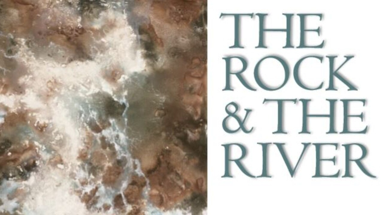 The Rock and The River art exhibition by Roslyn Hartwig.