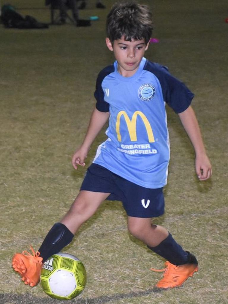 Springfield United Football Club junior training. Picture: Gary Reid