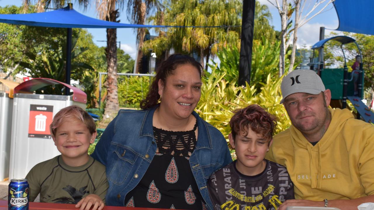 Tane, Aleisha, Taimana and Justen White at East Shores on Saturday July 11, 2020.