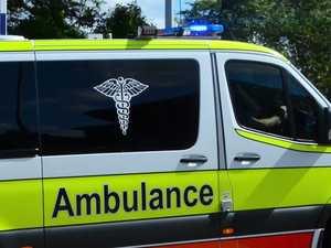 Driver hospitalised after crashing through fence