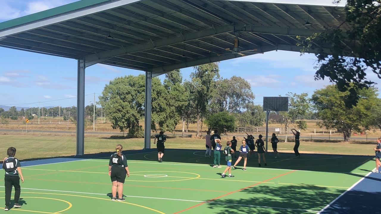 Depot Hill State School's netball team can now enjoy the new multipurpose court.
