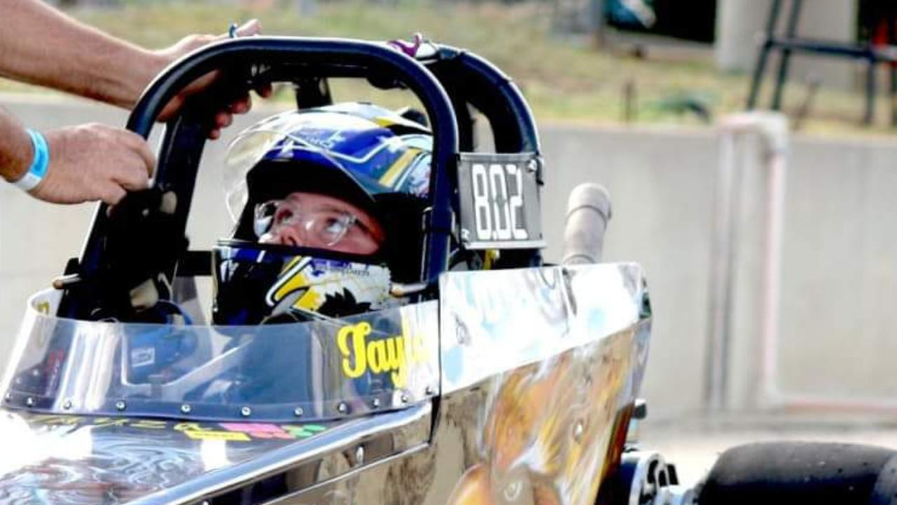 Gladstone's Tayla Kelly, 15, has been drag racing since she was only 10 at Benaraby Dragway.