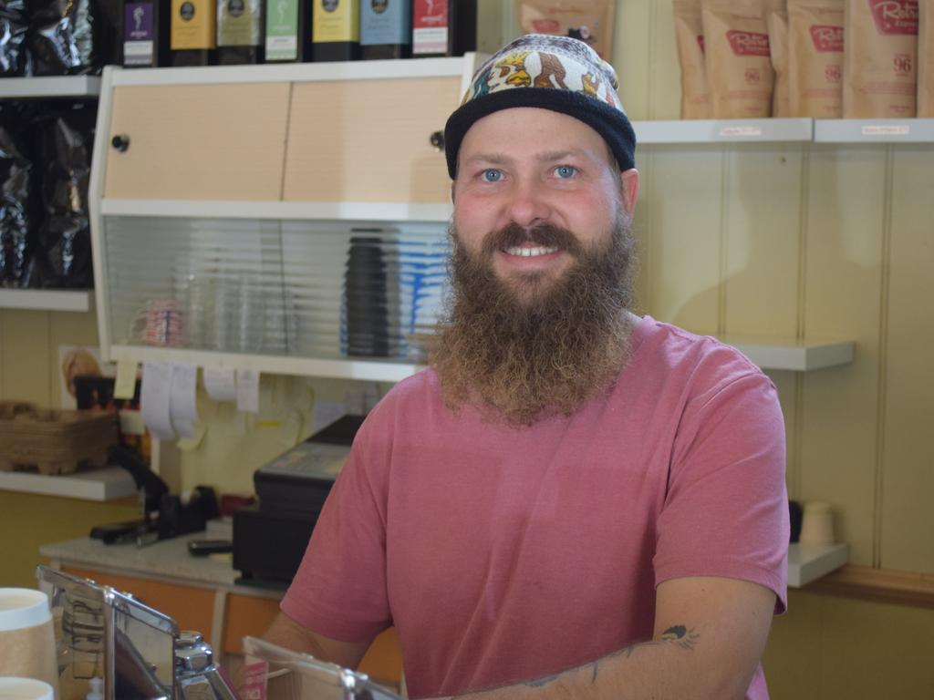 TIARO: Manager of Retro Espresso Tiaro, Thor Olsen. Photo: Stuart Fast