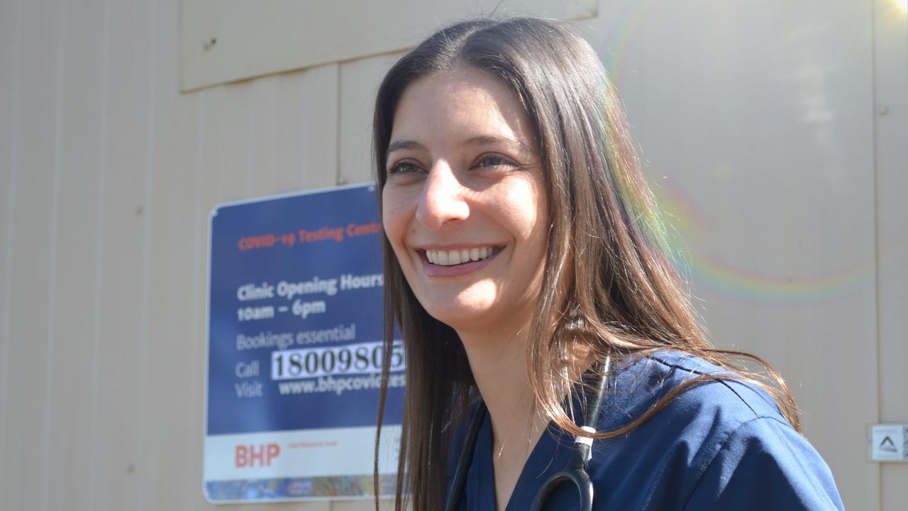 Vanguard Health senior medical officer Karolina Kerkemeyer is providing free mobile COVID-19 testing in Moranbah and surrounding Isaac region towns.