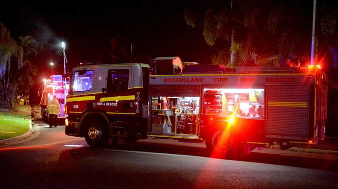 Fireys rush to blaze as smoke billows from house