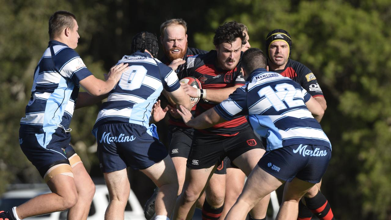 The Coffs Harbour Snappers and SCU Marlins clash last year.
