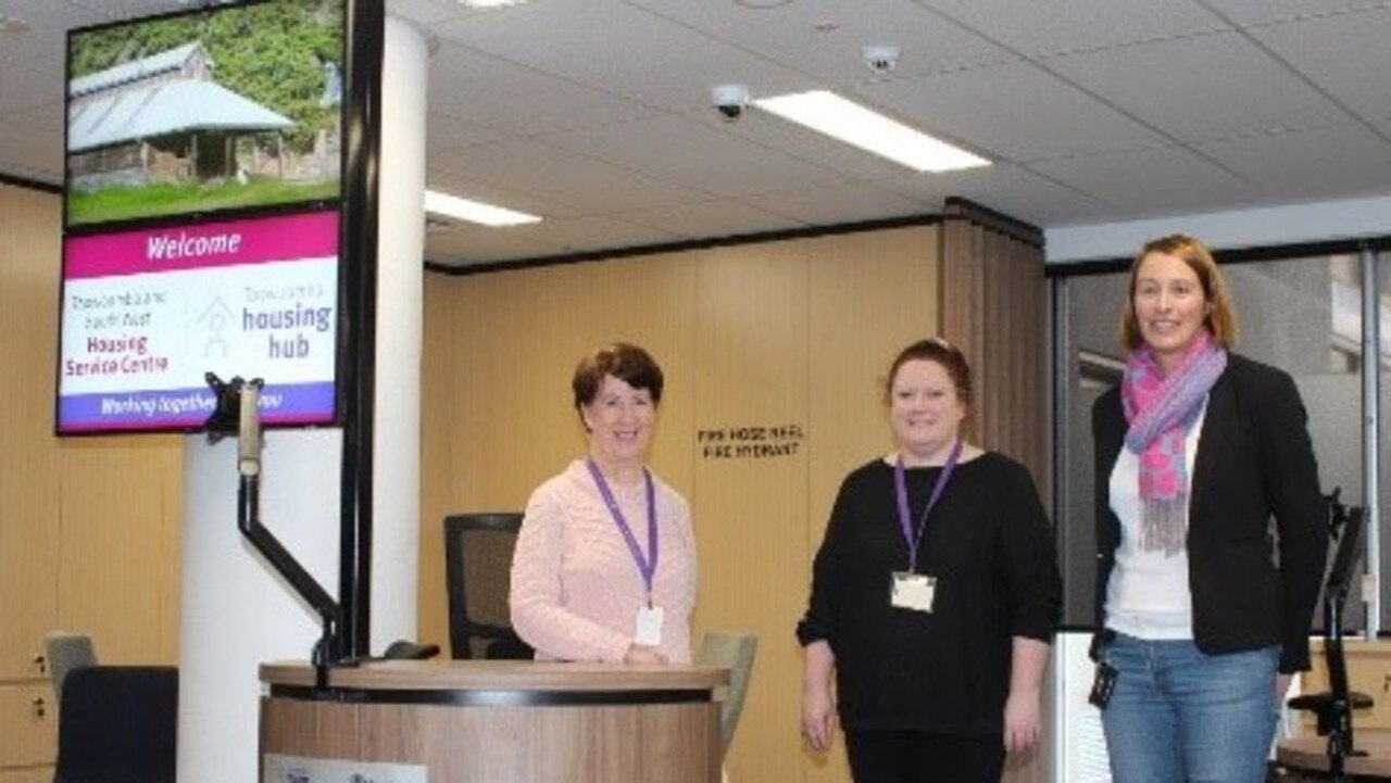 HELPING HOMELESS: Providing accommodation to those in need are (from left) Toowoomba Housing Hub manager Helen McGrath, Anna Falconer, and Denise Whitelaw.