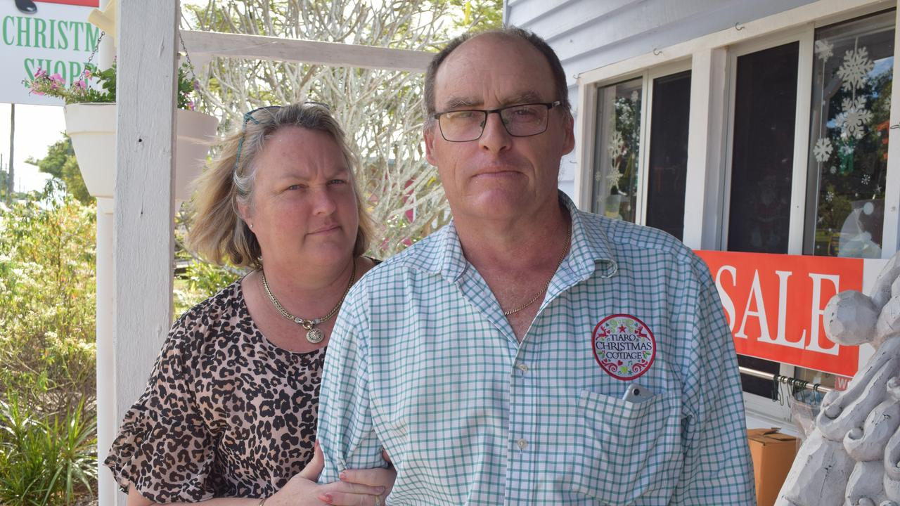 TIARO: Owners of Tiaro Christmas Cottage Jenny and Grant Wood. Photo: Stuart Fast