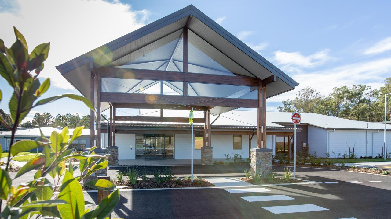 Entrance to new Fassifern Aged Care Service building.
