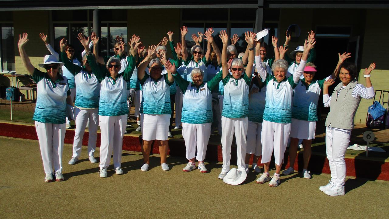 GALS ON THE GREEN: Members of the Lennox Head Bowls Club women's competition showed how thrilled they were to be back on the greens,