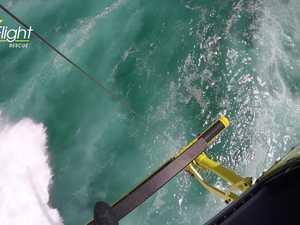 RACQ LifeFlight Rescue winch tourists
