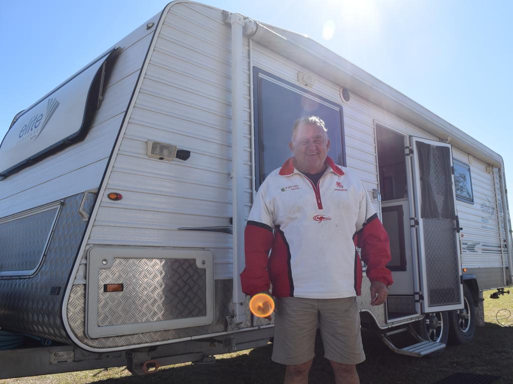 Coff's Harbour caravan owner Robert Holt visiting Maryborough. Photo: Stuart Fast