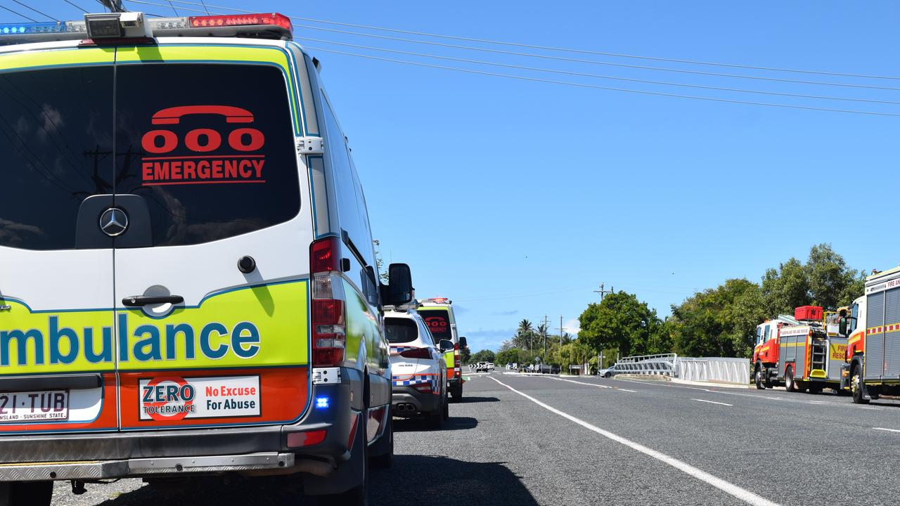 Emergency services are attending a multi-vehicle crash in Rockhampton's north.