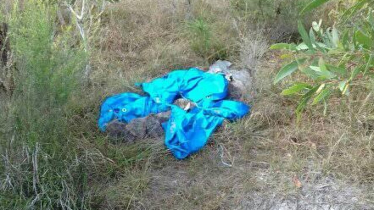 Mr Ice said a dead animal had been wrapped in a tarp and dumped on the land.