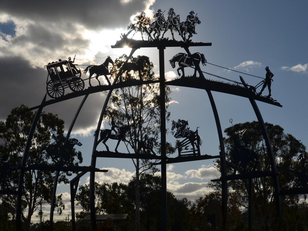 John Simpson's Horsepower sculpture continues to impress in Queens Park.