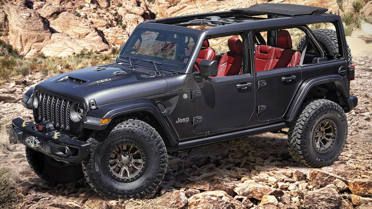Jeep has revealed its V8-powered Wrangler Rubicon 392 Concept.