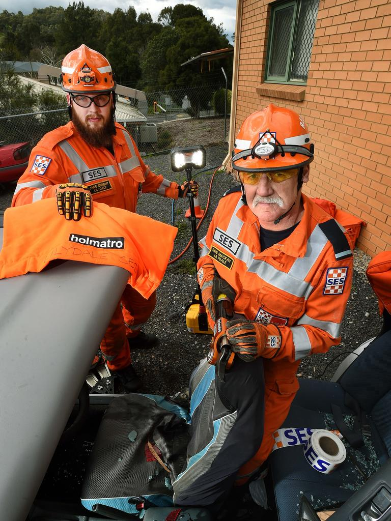 The Community and Client Services Monthly Review said SES units spent 98 hours in operation last month, responding to storm damage and helping search for missing people. Picture: Steve Tanner