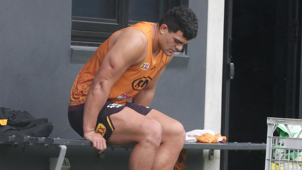 Brisbane will be without David Fifita for at least another fortnight. Picture: Annette Dew