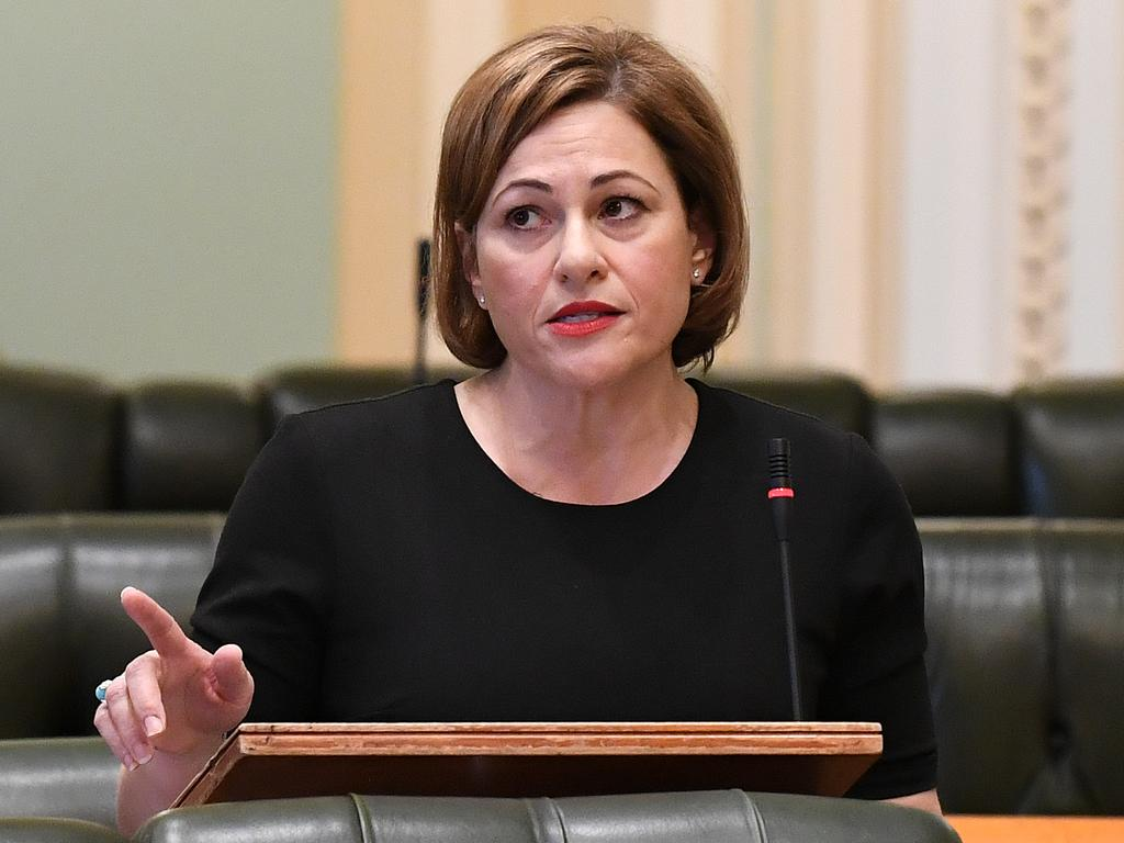 Jackie Trad in Parliament recently