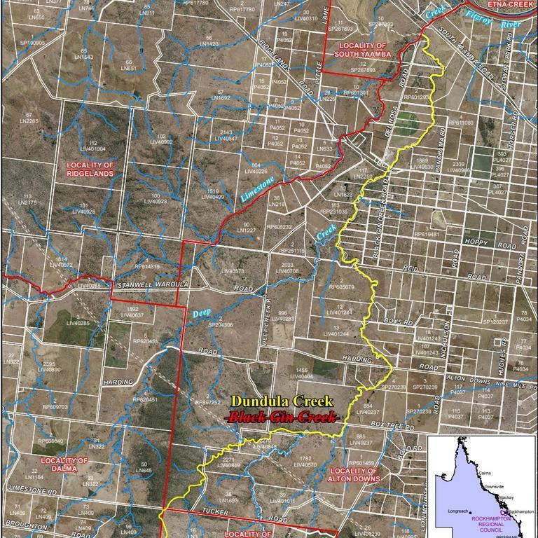 NAME CHANGE: It has been proposed to change the derogatory name of Black Gin Creek to Dundula Creek (pronounced 'doon-doo-la').