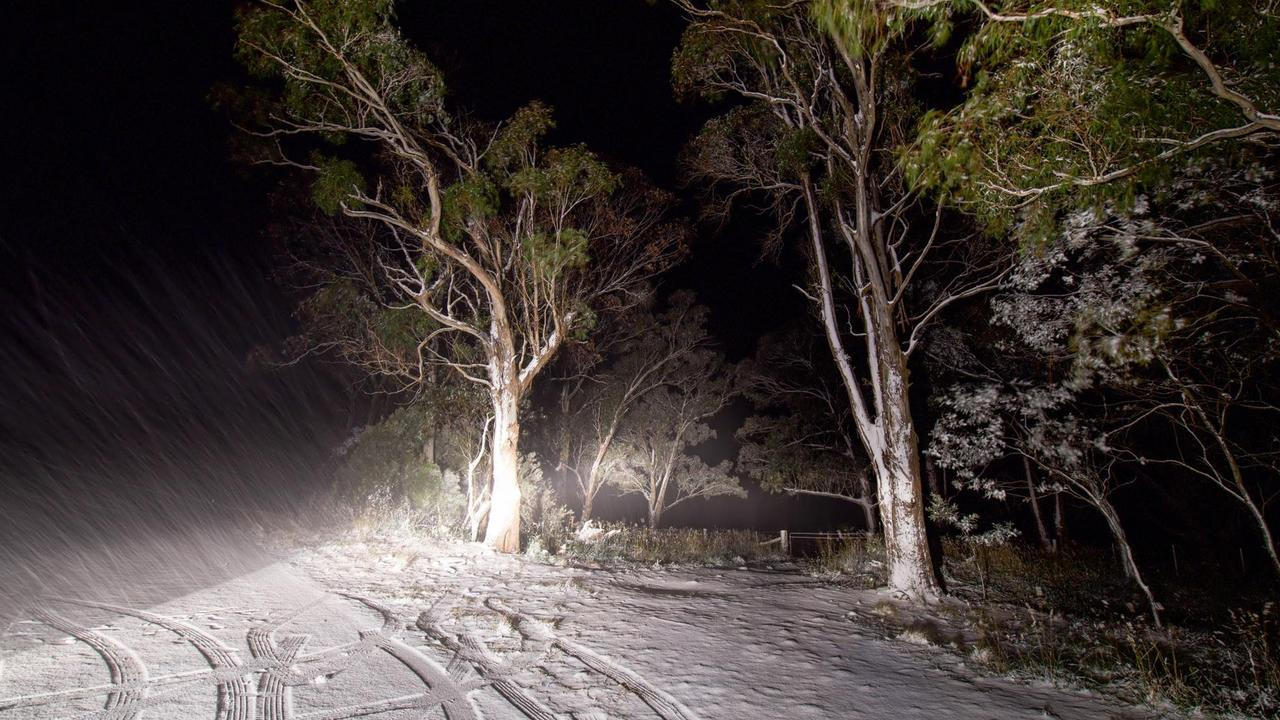 Snow at Ben Lomond covered up to 2-3cm of the ground. CREDIT: Nicholas Thompson Photography