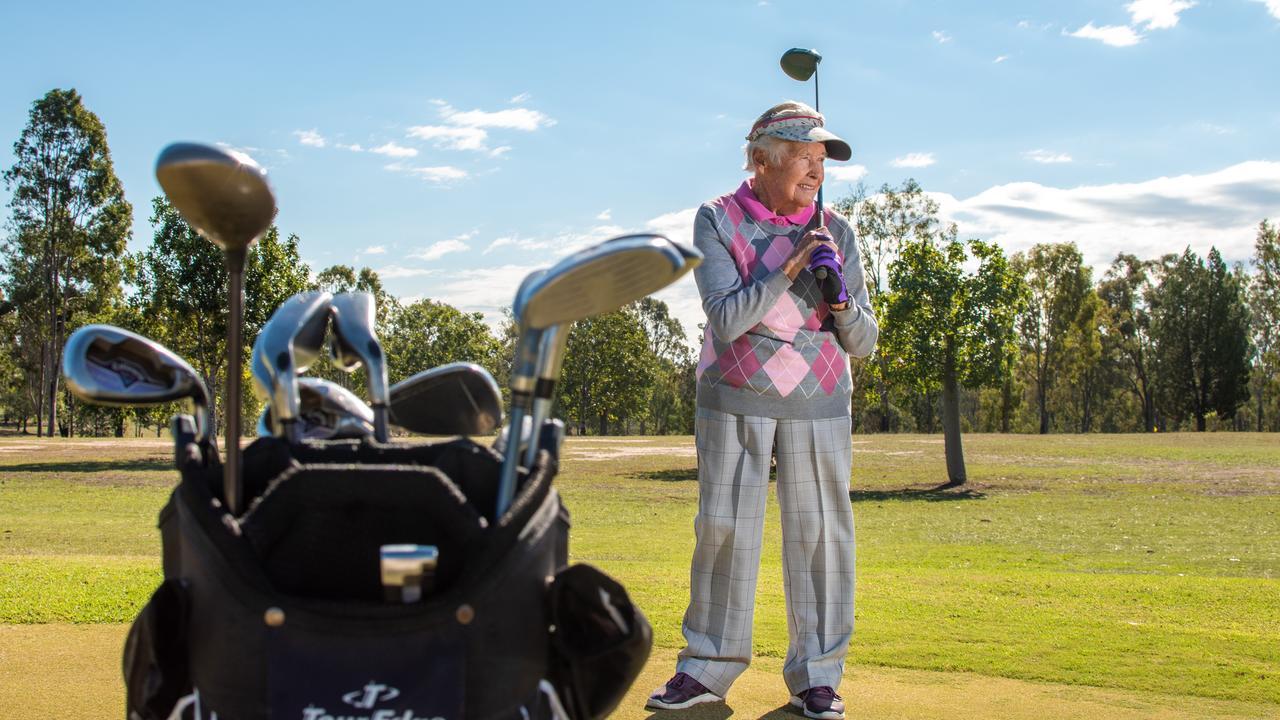 Laidley golfer June Blaney, at age 92. PHOTO: ALI KUCHEL