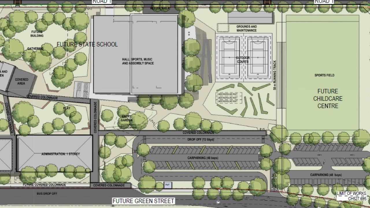Part of the plans for the new Caloundra South state primary school.