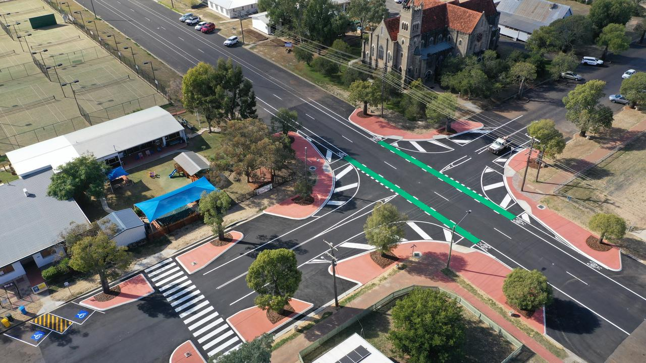 COMPLETED: The new look of the Arthur and Bungil St intersection. Picture: Contributed