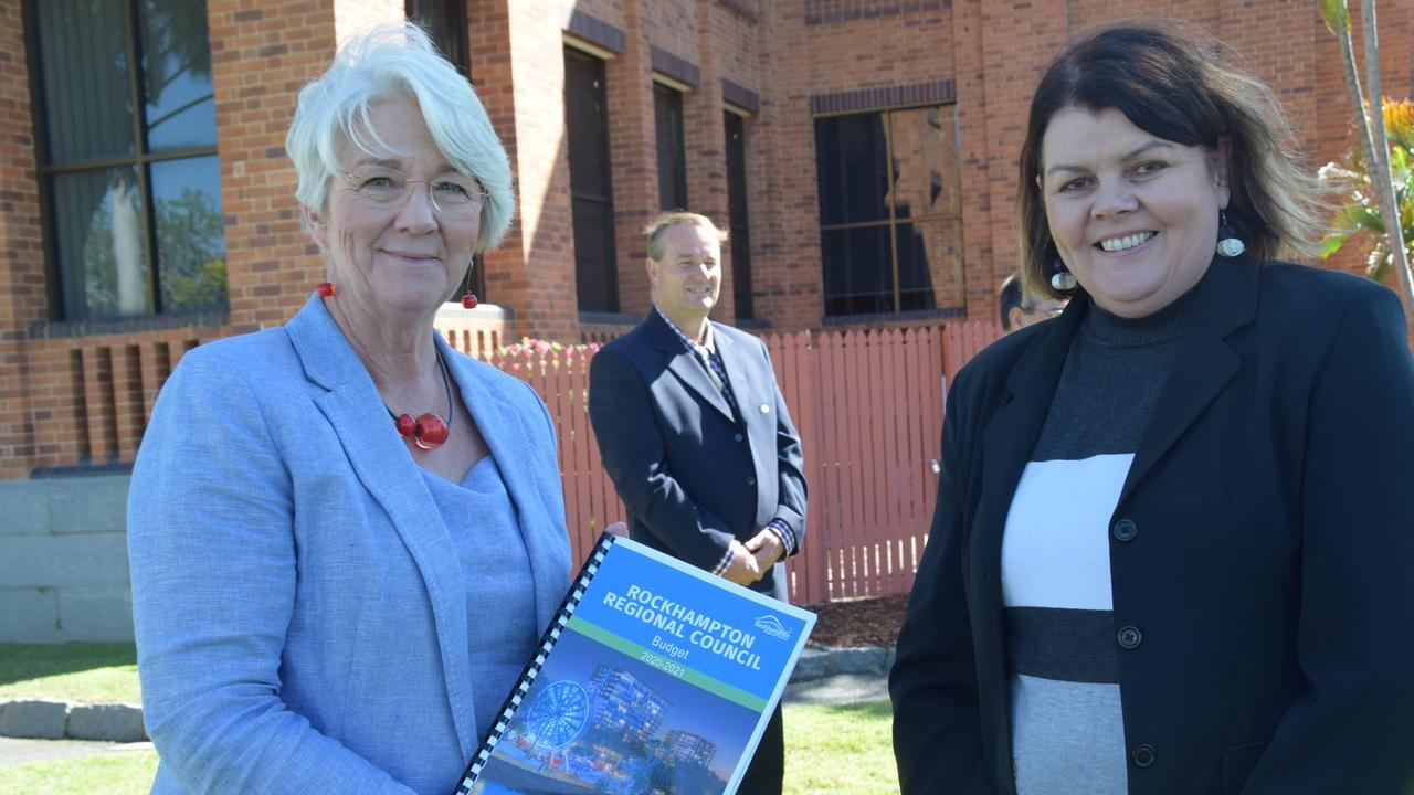 Rockhampton region mayor Margaret Strelow and CFO Alicia Cutler.