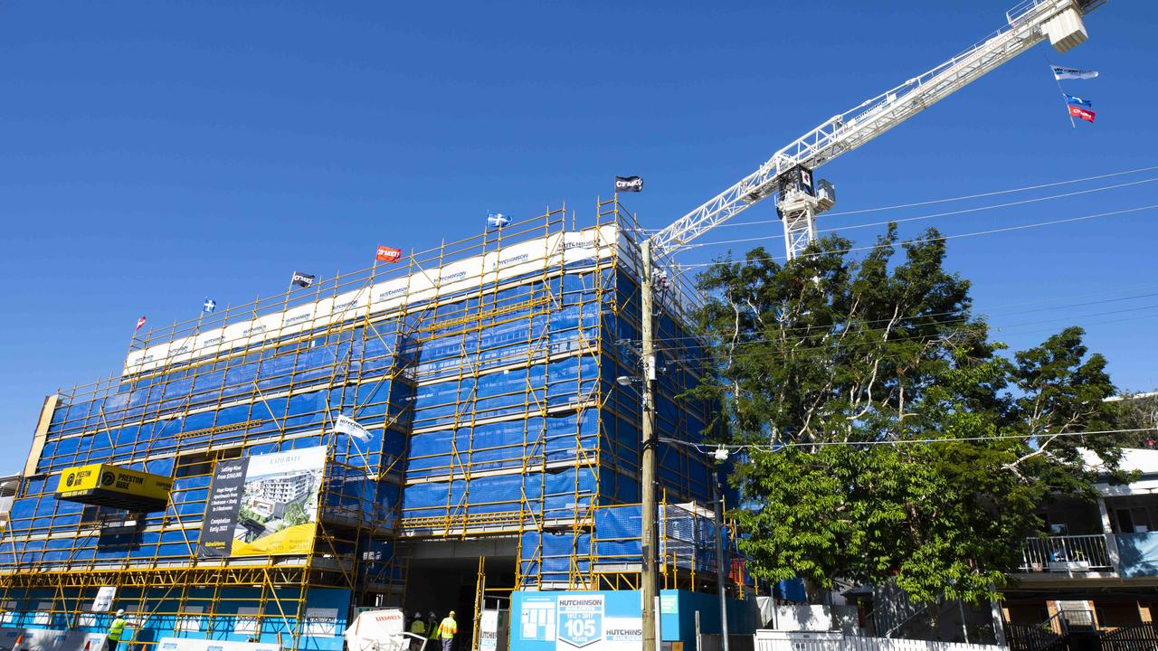 The new Wynnum cinema in Berrima Street is under construction (taken in April). Picture: Renae Droop