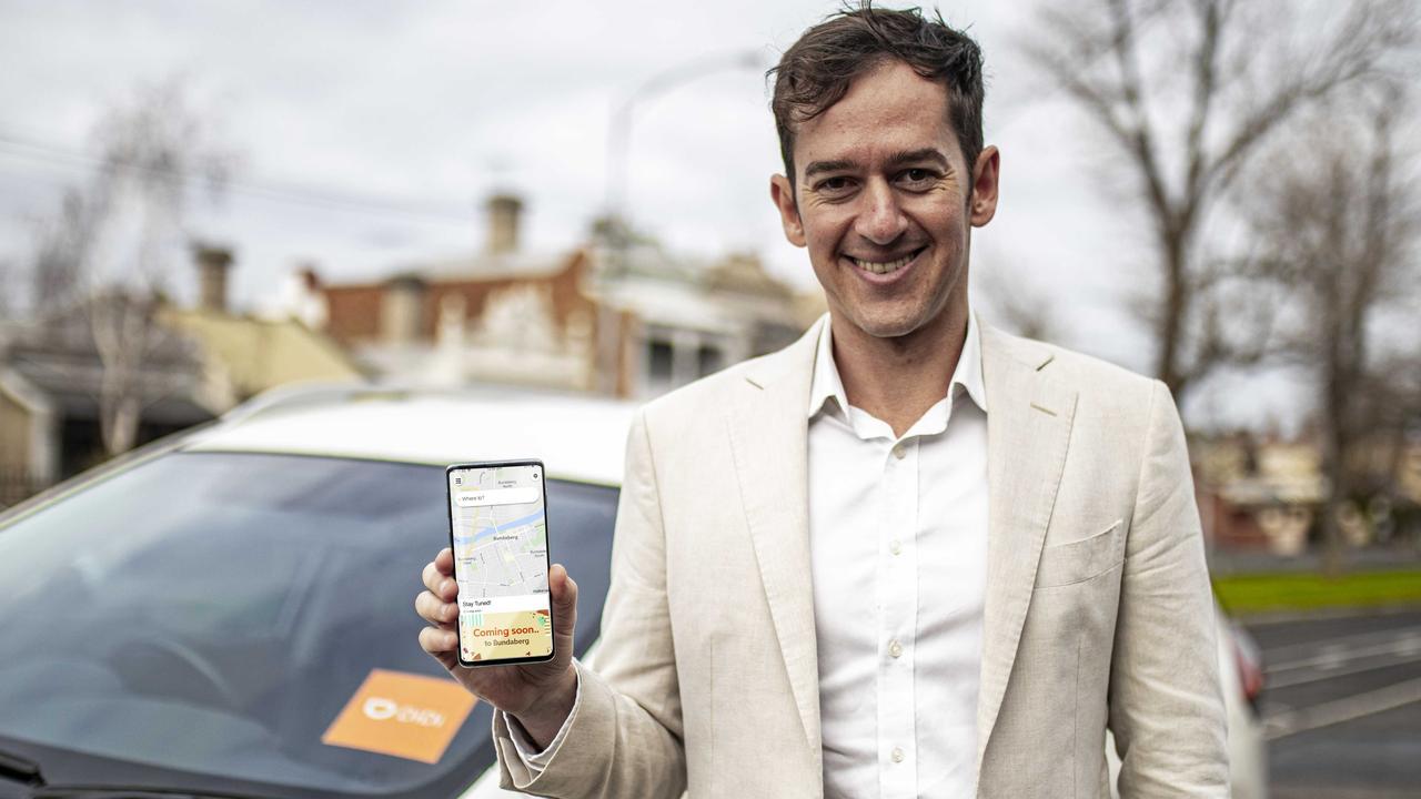 COMING SOON: DiDi Australia's Head of Public Relations, Dan Jordan, with the DiDi app.