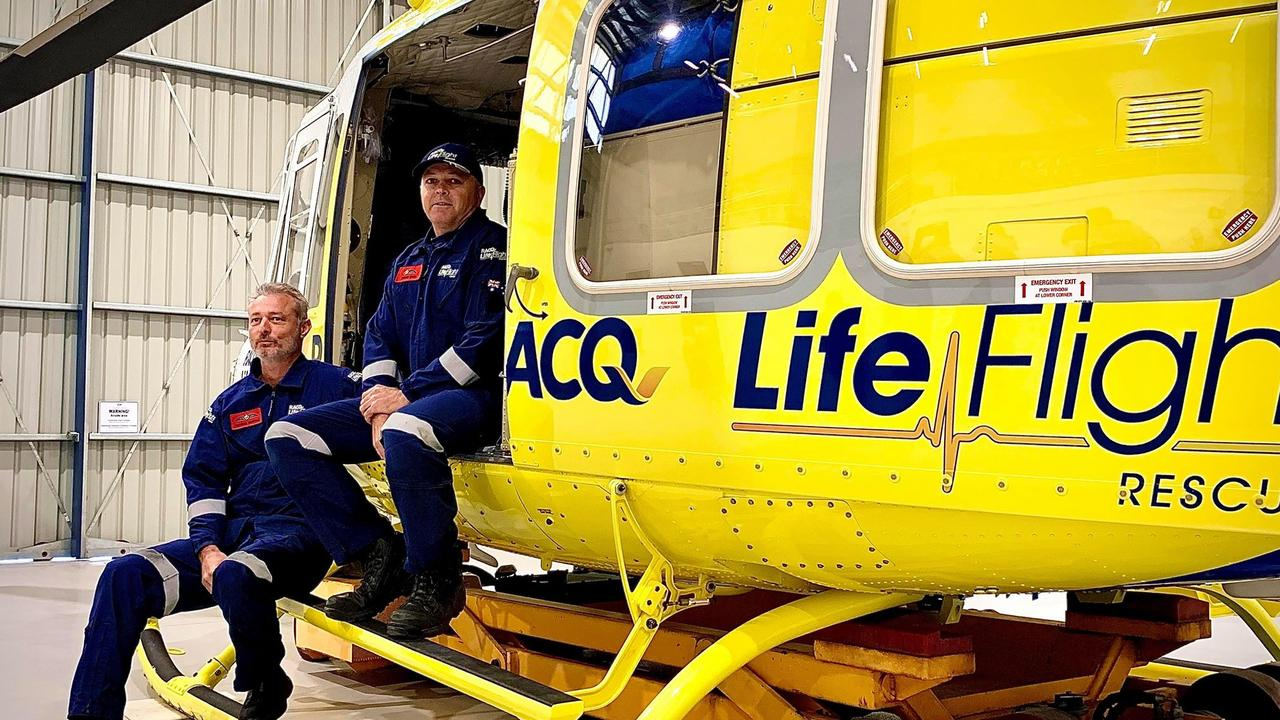 BIG YEAR: RACQ LifeFlight pilot Franco Bertoli and aircrew officer Shayne White reflect on a record year of rescues.