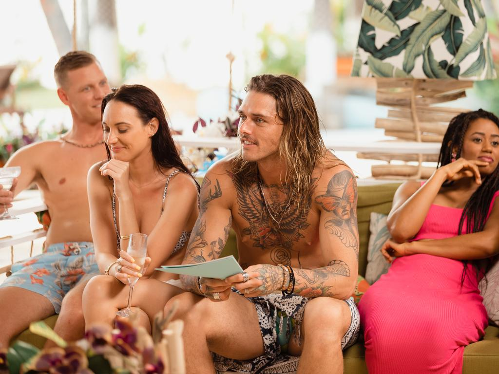 Glenn, Brittney, Timm and Mary get up close and personal in Bachelor in Paradise.