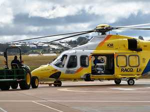 Toddler airlifted to hospital after crash 20km out of Dalby